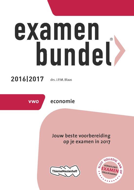 Boek cover Examenbundel vwo economie 2016/2017 van J.P.M. Blaas (Paperback)
