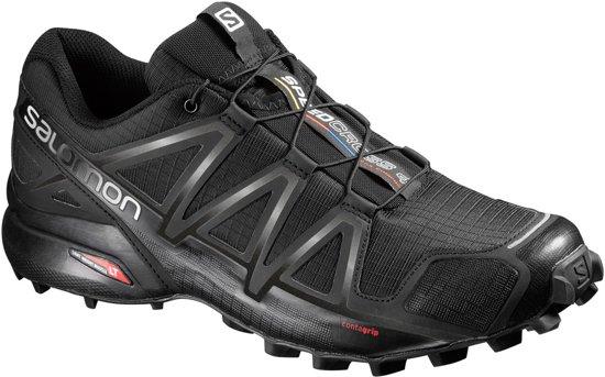 Salomon Speedcross 4 Sportschoenen Heren - Black/Black/Black Metallic