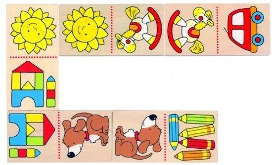 Afbeelding van het spel Goki Domino Mijn Eerste Domino 28 Blokjes