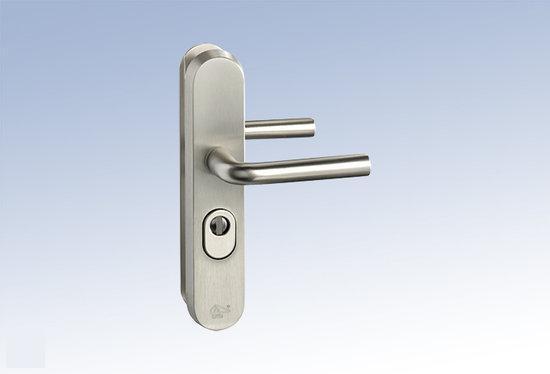 M & C Deurbeslag Aluminium anti kerntrek veiligheids deurbeslag skg*** N207205