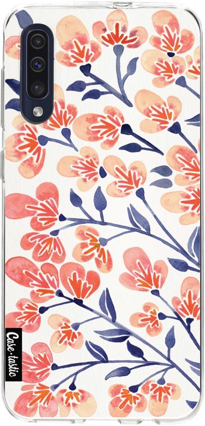 Casetastic Smartphone Hoesje Softcover Samsung Galaxy A50 (2019) - Cherry Blossoms Peach