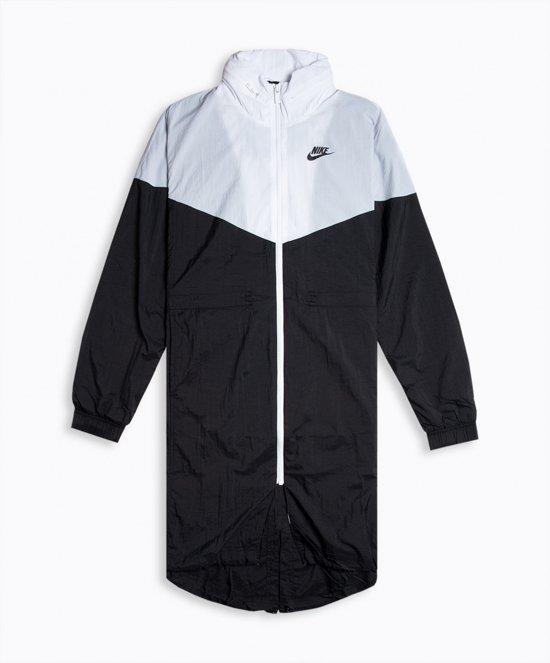 Nike Nsw Wr Jkt Trench Dames Sportvest - Black/White/(Black) - Maat S
