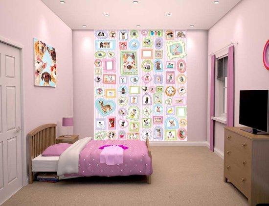 Lief Behang Meisjes.Walltastic Posterbehang Studio Pets Dieren Behang Meisjes 200x244 Cm