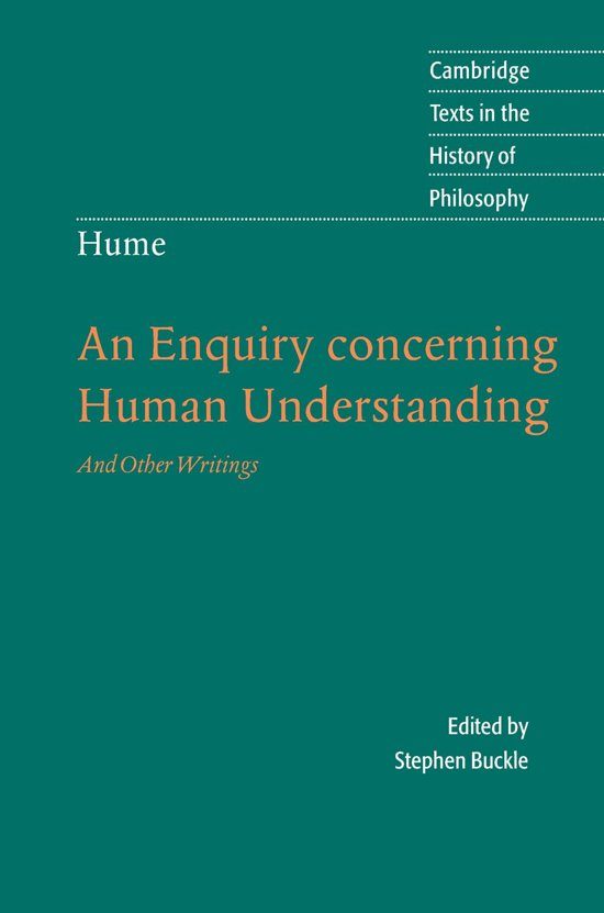 the question of gods existence in an enquiry concerning human understanding a book by david hume In a slightly amended form, in the enquiry concerning human understanding hume believes that the question of whether or | free will | hume, david.