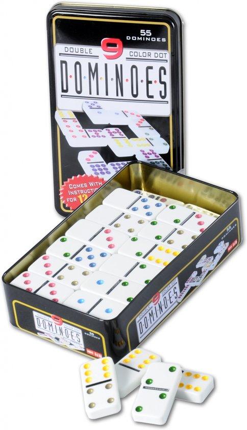 Afbeelding van het spel Longfield Games Domino Dubbel 9 - Blik