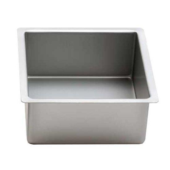 Vierkante aluminium bakvorm 10cm hoog, 25cm - Decora
