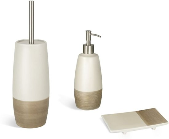 Accessoires Voor Badkamer : Bol.com nature badkamer accessoires set keramiek