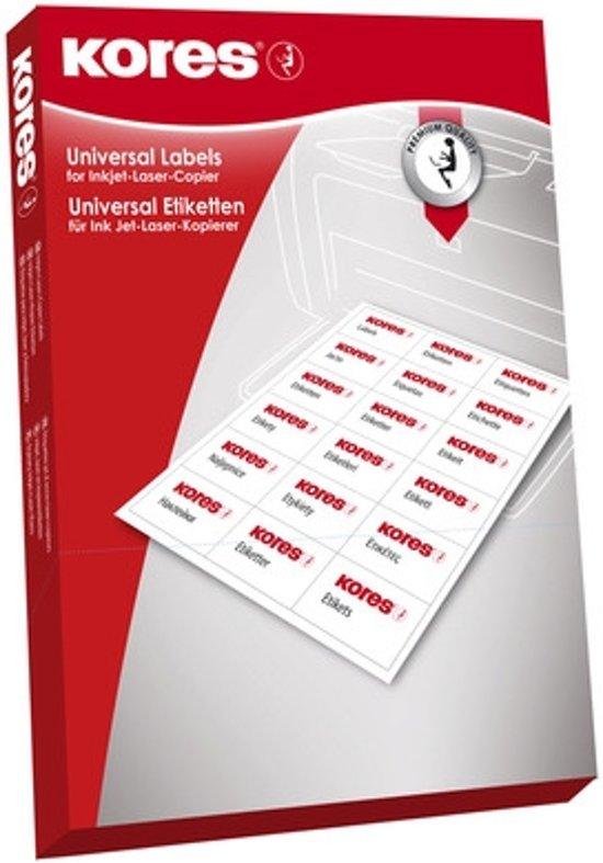 Etiket Kores ILK 64,6x33,8mm recht, doos a 100 vel 24 Etiketten per vel