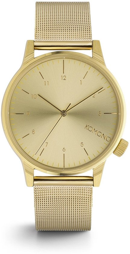 Komono Winston Royale Zirconium horloge dames en heren - goud - messing