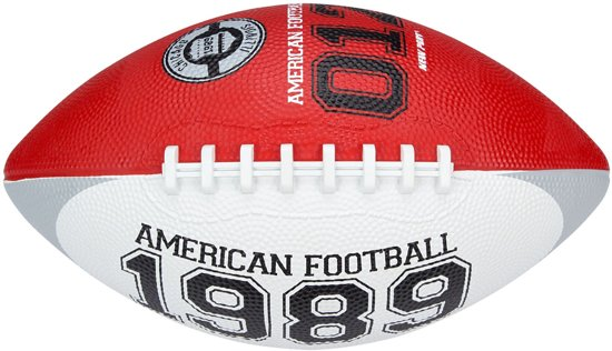 New Port American Football - Medium - Rood/Wit/Grijs