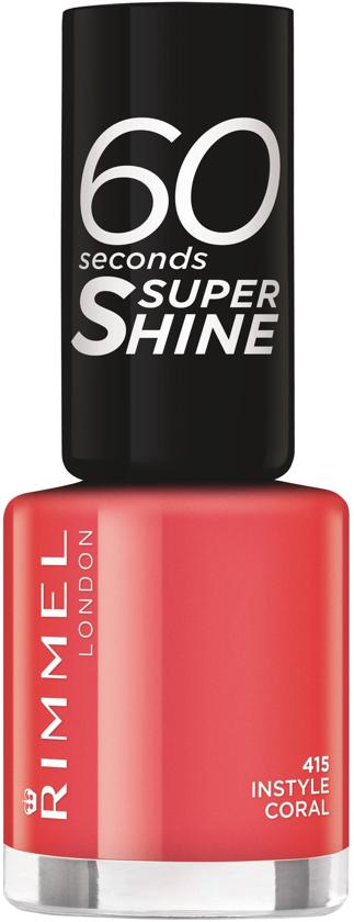 Rimmel London 60 seconds supershine nailpolish - Instyle Coral - Peach-Coral