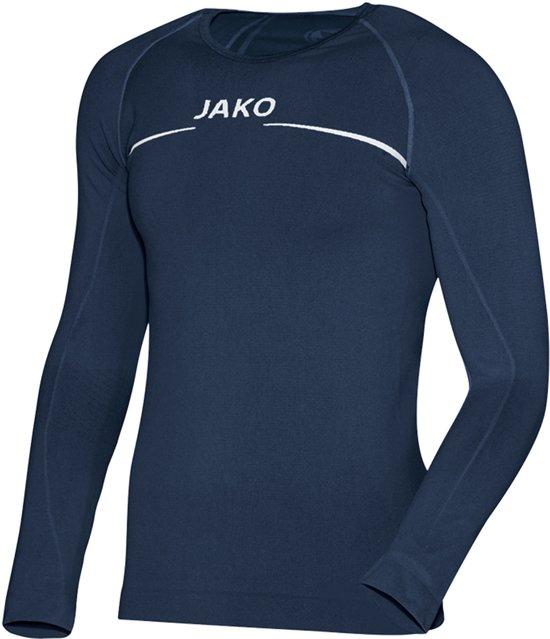 Jako Comfort LM  Sportshirt performance - Maat S  - Unisex - blauw