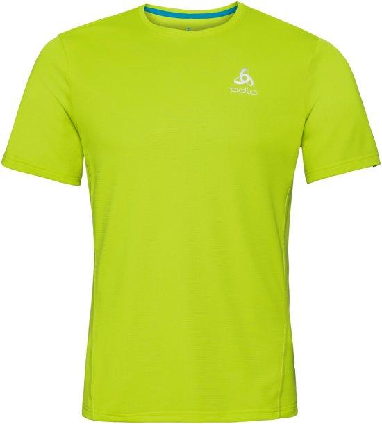 Odlo BL Top Crewneck Sliq Sportshirt Heren - Acid Lime