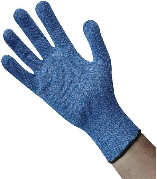 Snijbestendige handschoen blauw - maat M