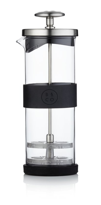 Barista & Co Melkopschuimer - Glas - Ø 7 x 21 cm - Electric Steel