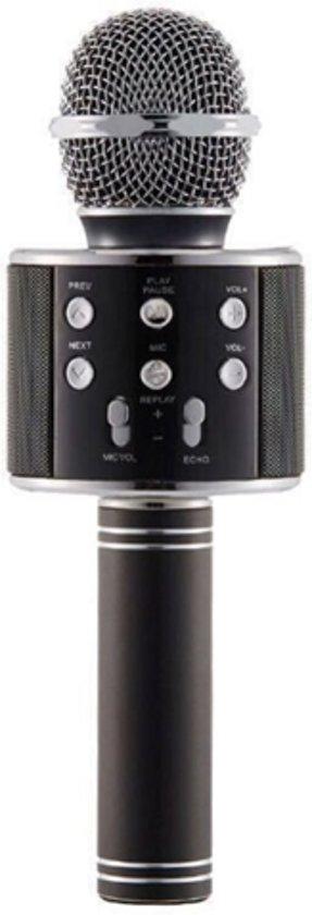 Afbeelding van Karaoke Microfoon - Draadloos - Bluetooth Verbinding - Zwart - Voor de gezelligste feestjes