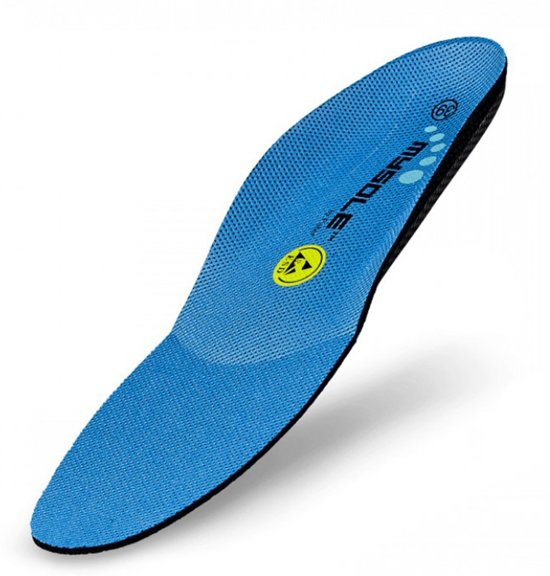 Mysole - Inlegzool normale voet blauwe zool - 43