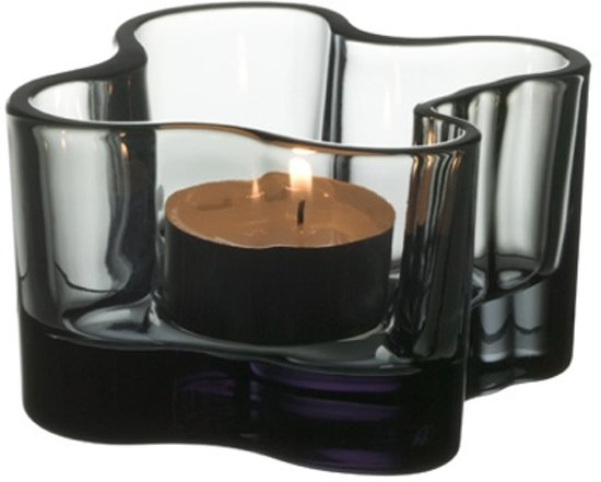 Iittala Aalto Waxinelichtjeshouder - Sfeerlicht - 55 mm - Grijs