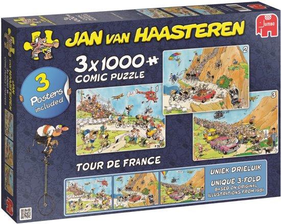 Jan van Haasteren Tour de France 3 in 1 Puzzel 3x 1000 Stukjes