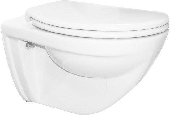 Vlakspoel Toilet Hangend : Bol trevi wandcloset cm vlakspoel met ultimo soft close