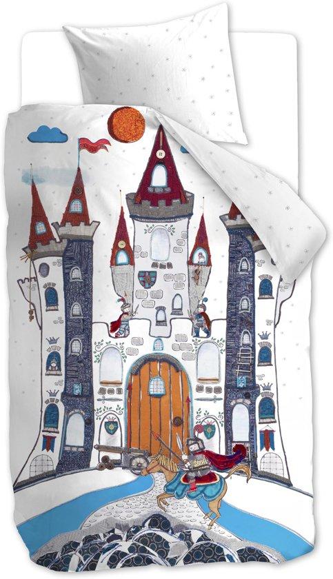 Beddinghouse Kids Dragon Castle  - kinderdekbedovertrek - Eenpersoons - 140x200/220 cm - Grijs