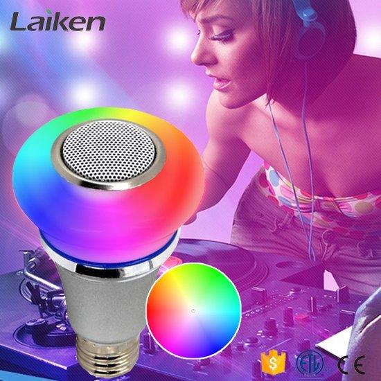SMART-CONTROLLED MUSIC LED-LAMP – 5W RGB+ – 3W BLUETOOTH SPEAKER - Voordeelset 3 stuks