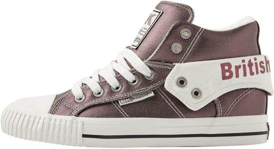 325a2f38a9d bol.com   British Knights ROCO Dames sneakers hoog - Donker grijs ...