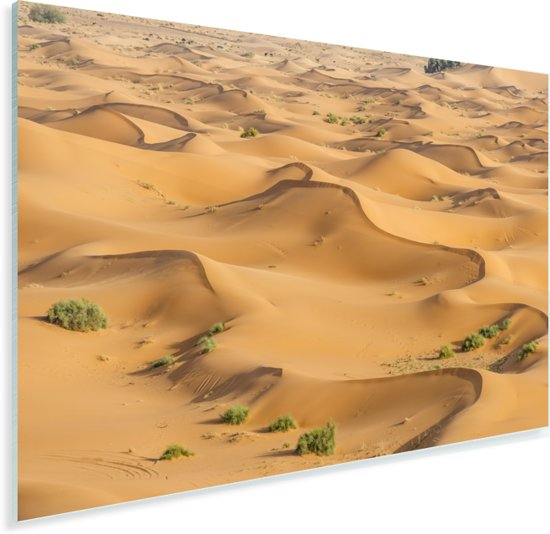 Zandduinen in het duinlandschap Erg Chebbi bij Merzouga in Marokko Plexiglas 30x20 cm - klein - Foto print op Glas (Plexiglas wanddecoratie)