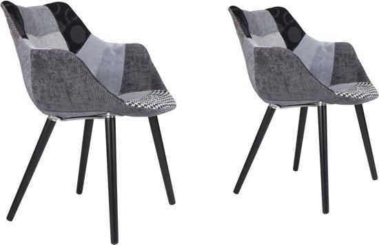 Stoel Zuiver Eleven : Bol.com zuiver twelve patchwork stoel grijs set van 2