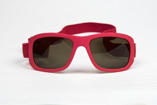 HAGA Eyewear zonnebril kind rood met band – 0-4 jaar