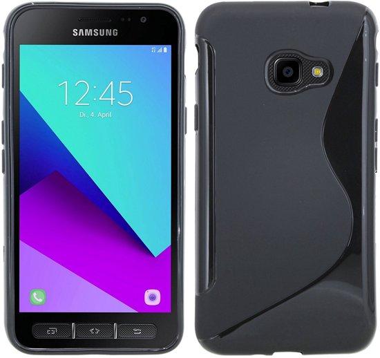 Boîtier Flip Noir Tpu Pour Samsung Galaxy Xcover 4 VkjTp