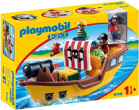 Playmobil 1 2 3 piratenschip 9118 playmobil speelgoed - Playmobil bateau corsaire ...