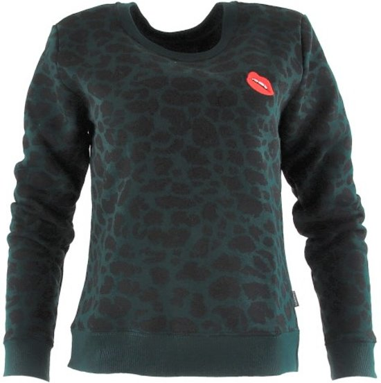 Leopard Basic Sweat Pine Grove