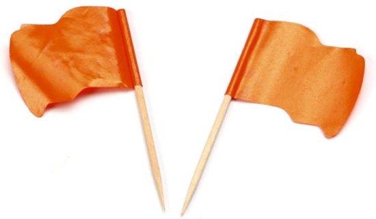 Vlagprikker Oranje Wapperend 5x144st