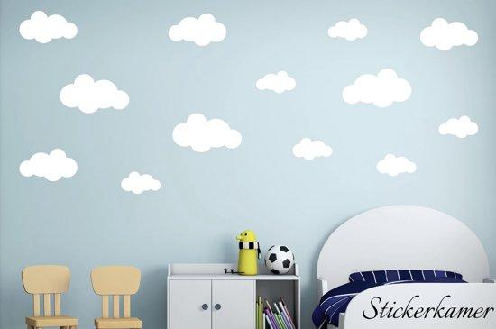 Waar Koop Ik Muurstickers.Muursticker Wolken Wit 13 Stuks Grote Muursticker Wolken