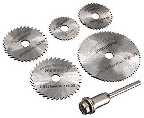 HSS staal zaagbladen boormachine cirkel zaag schijven-  6 delig  Ø22, 25, 32, 35, 44mm -  Levay ®