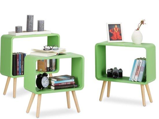 Kast Houten Kubussen : Bol.com relaxdays boekenkast klein set van 3 stuks cube kast