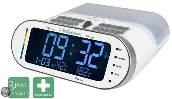 Medisana MTR - Bovenarmbloeddrukmeter met klokradio