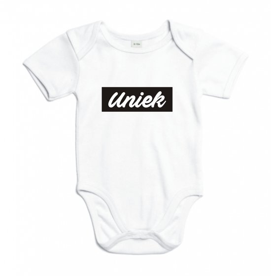 Baby rompertje V.I.B. | Korte mouw 62/68 wit