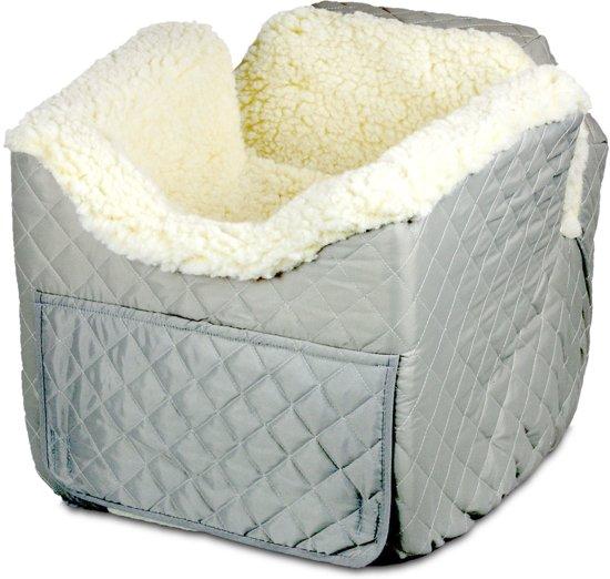 Snoozer Lookout - Autostoel - Autozitje voor honden - Medium 48 cm x 56 cm x 43 cm - Grijs - met lade