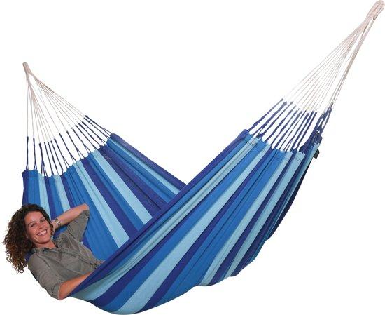 """Hangmat """"El Clasico Azul"""" compleet met bevestigingsset """"Makkie"""""""