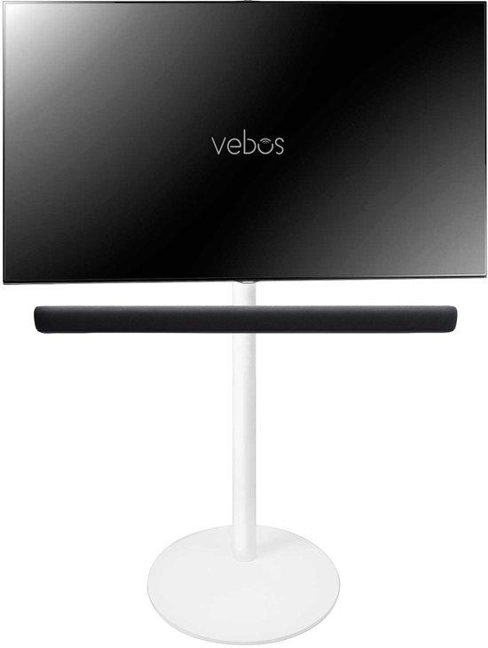 Vebos tv standaard Yamaha YAS 209 Sound Bar wit | Hoogte 117 cm | 40 - 55 Inch | Max 35 kg