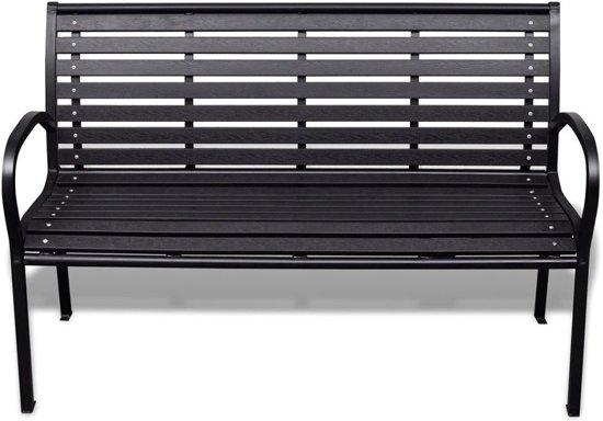 vidaXL Tuinbank 125 cm staal en HKC zwart