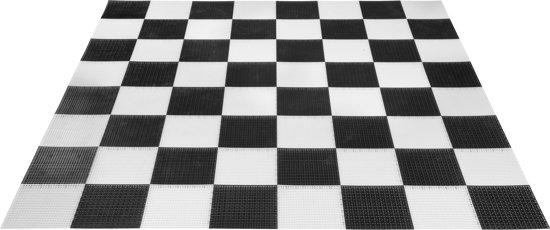 Schaakbord, mega groot voor de tuin of plein grote schaakstukken