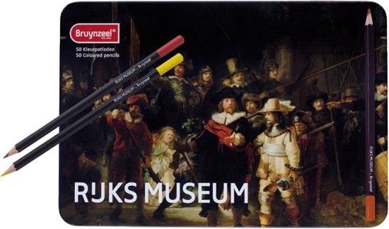 Hollandse Meesters blik 50 kleurpotloden De Nachtwacht van Rembrandt