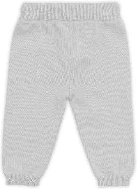 Jollein broekje Pretty Knit soft grey Maat: 74/80
