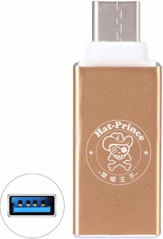 ENKAY Hat-Prince HC-3 aluminium USB 3.0 Vrouw naar USB-C / Type-C 3.1 Male Datatransmissie Opladen Adapter, voor Galaxy S8 & S8 + / LG G6 / Huawei P10 & P10 Plus / Xiaomi Mi6 & Max 2 en andere smartphones (Gold)
