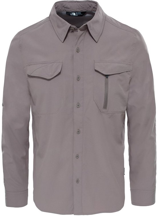 The Heren North Falcony Brown S Shirt Sequoia Longsleeve Maat Face Sr7OS