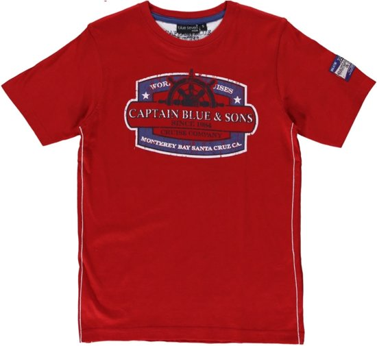 Blue Seven Jongens T-shirt - Rood - Maat 152