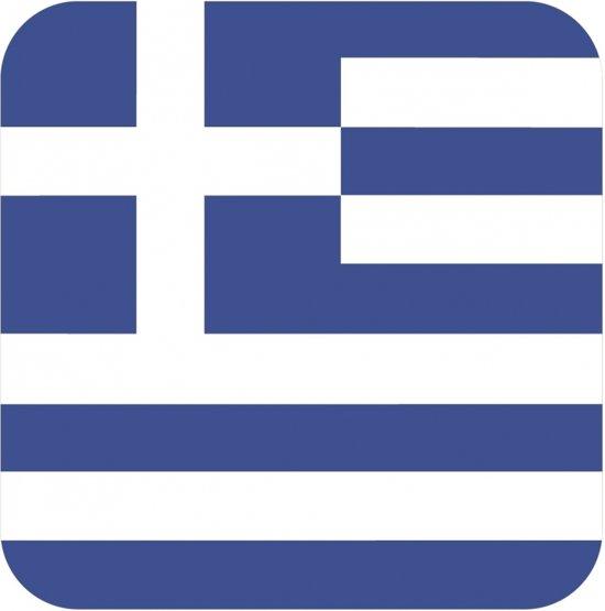 Bierviltjes Griekse vlag vierkant 15 st